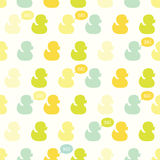 Seamless vector pattern with kiddish baby ducks. Royalty Free Stock Photography