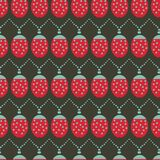 Seamless vector background pattern with ladybug christmas lights vector illustration