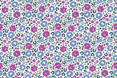 Seamless vector pattern with large flowers royalty free illustration
