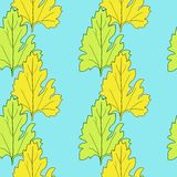 Seamless vector pattern with leaves Royalty Free Stock Photography