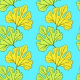 Seamless vector pattern with leaves Stock Photography