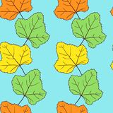 Seamless vector pattern with leaves Royalty Free Stock Image