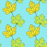 Seamless vector pattern with leaves Royalty Free Stock Photo