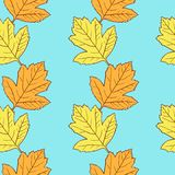 Seamless vector pattern with leaves Stock Photo
