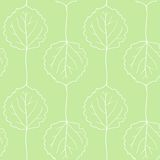 Seamless vector pattern with leaves of aspen Royalty Free Stock Images