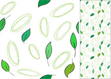 Seamless vector pattern with leaves stock illustration