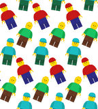 Seamless vector pattern of lego mans Stock Images