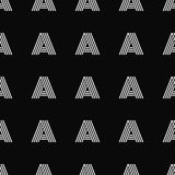 Seamless vector pattern with letter A Stock Photos