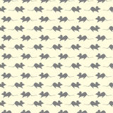 Seamless vector pattern, light pastel background with mouses, grey silhouette over beige backdrop.  Royalty Free Stock Photography