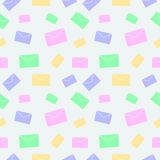 Seamless vector pattern, light pastel colorful background with letters Stock Photos
