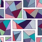 Seamless vector pattern, lined asymmetric geometric background with rhombus, triangles. Print for decor, wallpaper, packaging, wra. Pping, fabric. Triangular vector illustration
