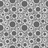 Seamless vector pattern with lines and circles. White and gray Stock Photos