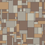 Seamless vector pattern of linoleum in vintage col Stock Images
