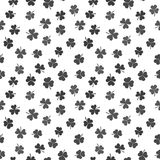 Seamless vector pattern made from dark shamrocks or clovers. Seamless pattern made from dark shamrocks or clovers. Vector St. Patricks Day texture Royalty Free Stock Photography