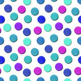 Seamless vector pattern made up of geometric shapes clay. Blue, pink plasticine Stock Image