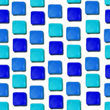 Seamless vector pattern made up of geometric shapes clay. Blue plasticine stock illustration