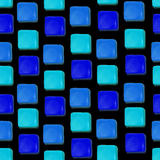 Seamless vector pattern made up of geometric shapes clay. Blue plasticine Stock Image