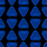 Seamless vector pattern made up of geometric shapes clay. Blue plasticine royalty free illustration