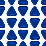 Seamless vector pattern made up of geometric shapes clay. Blue plasticine Stock Photography