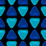 Seamless vector pattern made up of geometric shapes clay. Blue plasticine Stock Images