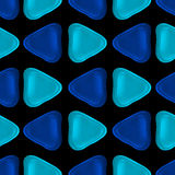 Seamless vector pattern made up of geometric shapes clay. Stock Image