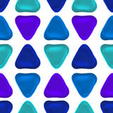 Seamless vector pattern made up of geometric shapes clay. Stock Photos