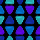 Seamless vector pattern made up of geometric shapes clay. Royalty Free Stock Image