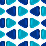 Seamless vector pattern made up of geometric shapes clay. Stock Photography