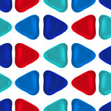 Seamless vector pattern made up of geometric shapes clay. Blue, red plasticine vector illustration