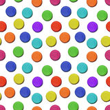 Seamless vector pattern made up of geometric shapes clay. Colorful plasticine Stock Photography
