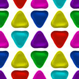 Seamless vector pattern made up of geometric shapes clay. Colorful plasticine Royalty Free Stock Photography