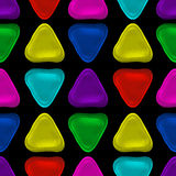 Seamless vector pattern made up of geometric shapes clay. Colorful plasticine Stock Photo