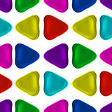 Seamless vector pattern made up of geometric shapes clay. Royalty Free Stock Photography