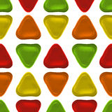 Seamless vector pattern made up of geometric shapes clay. Green, yellow, orange, red plasticine royalty free illustration