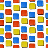 Seamless vector pattern made up of geometric shapes clay. Royalty Free Stock Photo