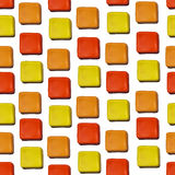 Seamless vector pattern made up of geometric shapes clay. Red, yellow, orange plasticine vector illustration