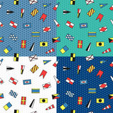 Seamless vector pattern of maritime flags Royalty Free Stock Photos