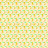 Seamless vector pattern, mat symmetrical background with apricot Royalty Free Stock Photography