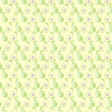 Seamless vector pattern, mat symmetrical background with avocado Stock Photography