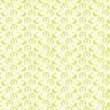 Seamless vector pattern, mat symmetrical background with elements of apples Stock Images