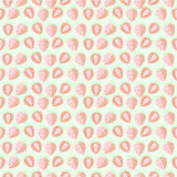 Seamless vector pattern, mat symmetrical background with strawberry Royalty Free Stock Image