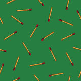 Seamless vector pattern of matches Stock Images
