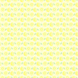 Seamless vector pattern, matt symmetrical background with lemon Royalty Free Stock Photo