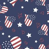 Seamless vector pattern Memorial Day Stock Photos