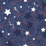 Seamless vector pattern Memorial Day Royalty Free Stock Photography