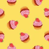 Seamless vector pattern of muffin Stock Photo
