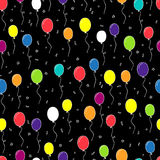 Seamless vector pattern of multi-colored balloons Stock Image