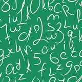 Seamless vector pattern with numbers and letters Royalty Free Stock Image