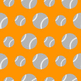 Seamless vector pattern, orange background with baseballs Royalty Free Stock Photography