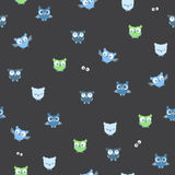 The seamless vector pattern with owls. The vector picture. EPS 10 Royalty Free Stock Image